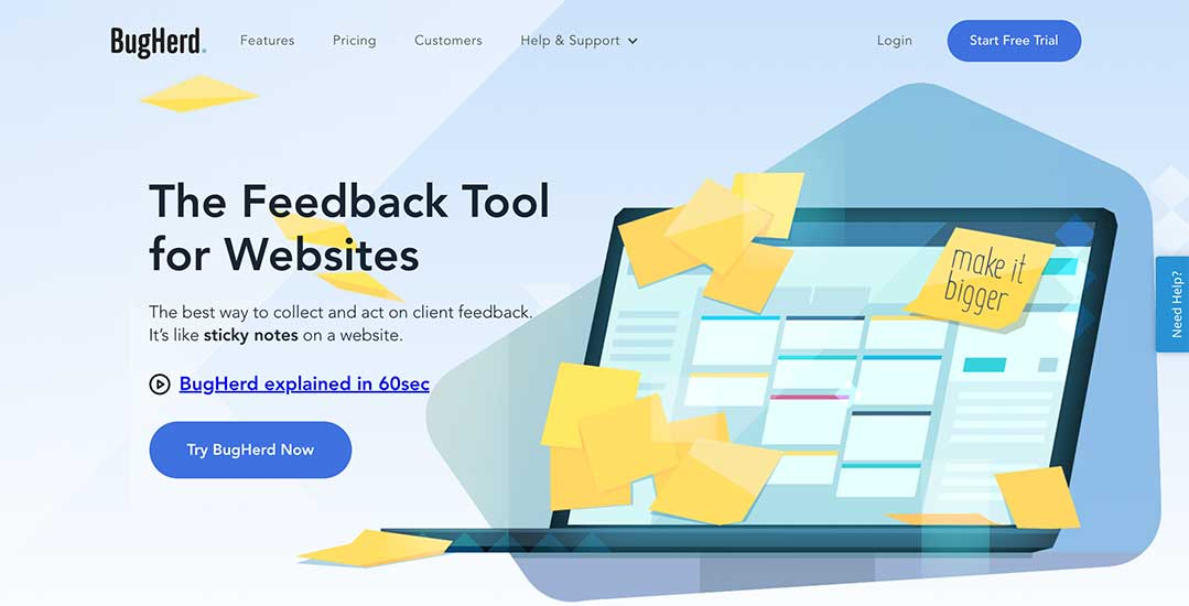 BugHerd website feedback
