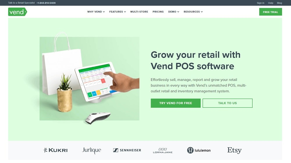 Vend australian retail pos software