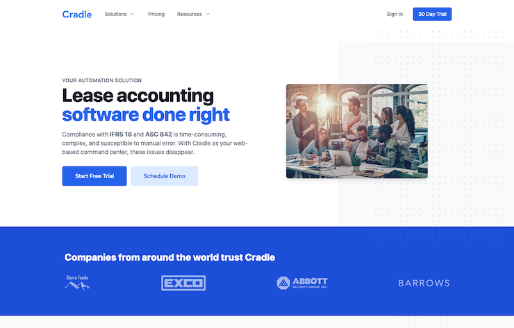 Cradle - lease accounting software